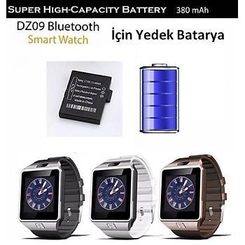 DZ09 Smart Watch Bluetooth Akýllý Saat Ýçin 380 mAh Yedek Batarya Pil