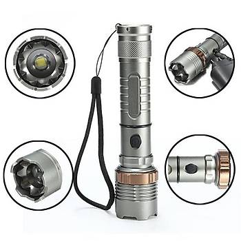 LED Taktik El Feneri 8000lm 500mt CREE XM-L T6 5 modlu Yaðmur Geçirmez