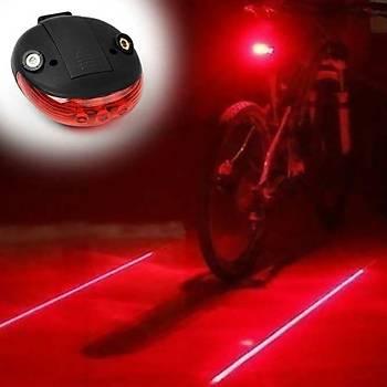 Bisiklet Lazer Gece Uyarý Arka Led lambasý Red Lazer