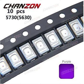 10 X 5730 5630 Mor UV LED SMD Chip 395nm - 400nm