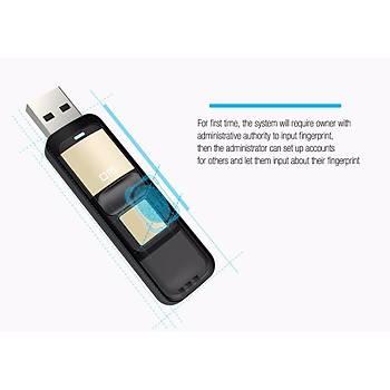 USB FLASH BELLEK PARMAK ÝZÝ OKUYUCULU 32 GB U DÝSK