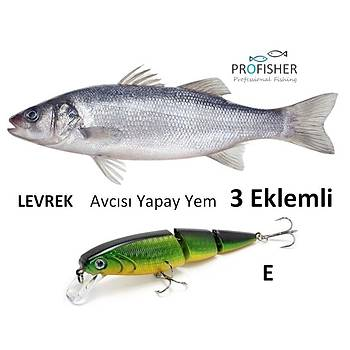 PROFISHER Levrek Avcýsý Zoka Sert Yapay Yem 15,5 gr 10 cm 3 Eklem