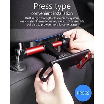 360° Döner Araç Arka Koltuk Tablet/Telefon  Tutucu Ayarlanabilir Stand GUSGU