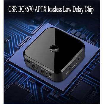 Apt-x HIFI SPDIF Fiber Optik Bluetooth 4.1 Alýcý Verici A2DP AVRCP