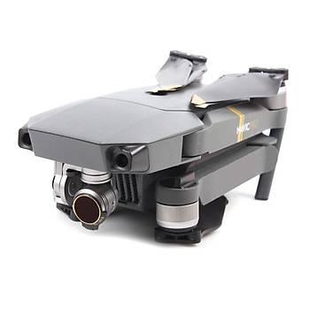 DJI Mavic Pro Alpine White Kamera Ýçin Kýzaklý Optik Lens 4 lü Filtre Set MCUV / CPL / ND4 / ND8