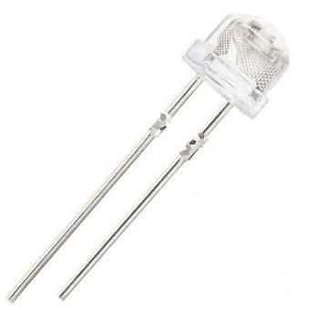 10 adet 5mm Iþýk UV Mor Hasýr Þapka Geniþ Açý Ultraviyole 395nm-400nm Þeffaf 5mm Iþýk-yayan Diyot LED Lamba