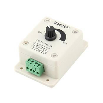 DC 12-24V 8A LED Dimmer Ayarlanabilir Parlaklýk Kontrolörü