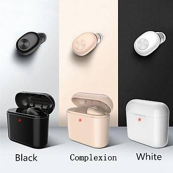 Bluetooth Mikrofonlu Kablosuz Mini Kulaklýk Taþýnabilir Þarj Kutusu Gürültü Önleme