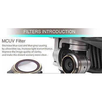 Dji Mavic Pro Kamera Ýçin Kýzaklý Upgrade Versiyon Optik Lens Filtre ND4