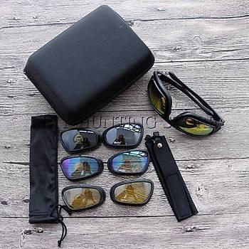 Motorsiklet Gözlük USA MILITARY C5 4 Deðiþebilir Lensli UV 400