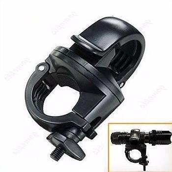 Bisiklet Motor Gidon Fener Tutucu Siyah Plastik 360° Dönebilir Kelepçe 27-30mm