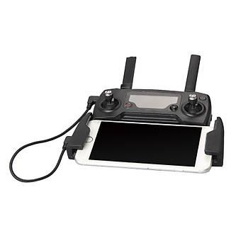 DJI Mavic Pro için Mikro USB Kumanda Veri Aktarým Kablosu 29cm Örgülü Siyah