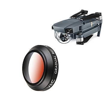 DJI Mavic Pro YC Lens Kamera Degrade Filtre Kýrmýzý Renk
