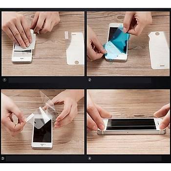 iPhone 5 5S Ýçin Ön/Arka Mirror Aynalý Ekran Koruyucu Tamperli Cam Siyah Renk