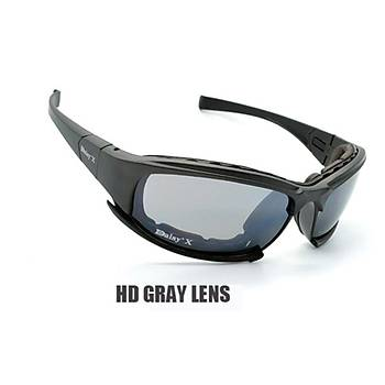 DAISY X7 UV400 Gözlük Deðiþebilir 4 Lensli Motorsiklet
