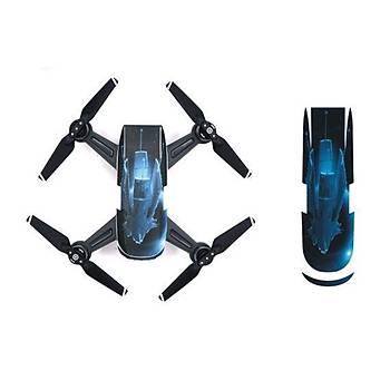 DJI Spark Su Geçirmez Premium PVC Sticker Çýkartma Deep Blue