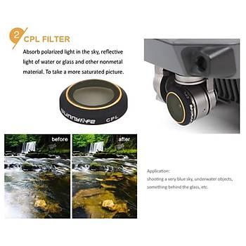 Dji Mavic Pro Kamera Lens Ýçin 3 lü Filtre Seti MCUV / CPL / ND8