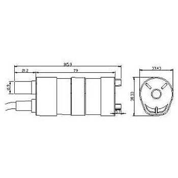 Dalgýç DC Motor Su Pompasý 600L/H 1.2A  5.5 X 2.1 5 Metre