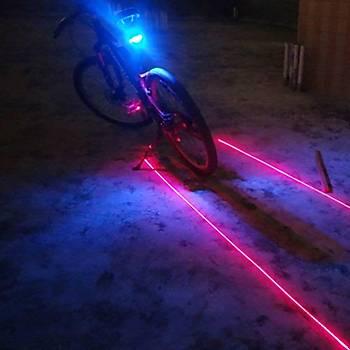Bisiklet için Lazer Gece Uyarý Arka Led lambasý