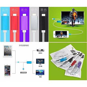 iPhone-iPad dan TV'ye Aktarým Kablosu 2 Metre MHL HDMI 1080P