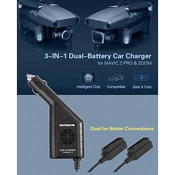 DJI Mavic 2 Pro Araç 2 li Pil Hýzlý Þarj Cihazý + USB Kumanda Þarj