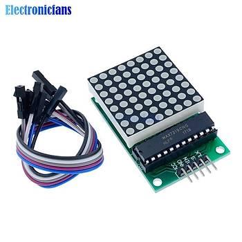 Arduino 5V Ýçin Dot Led Matrix Modül MAX7219 Led Matris Denetleyici