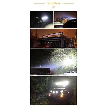 Araç Motorsiklet 18W 12V LED Iþýk Bar Spot Flood Lama Sürüþ Sis Farý