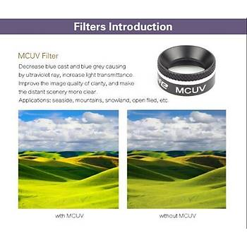 DJI Mavic Pro Platinum Kamera Ýçin Kýzaklý Optik Lens 4 lü Filtre Set MCUV / CPL / ND4 / ND8
