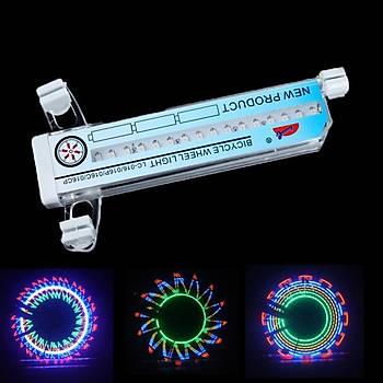 Motorsiklet Bisiklet Tekerlek 32 LED Renkli Iþýk Su Geçirmez