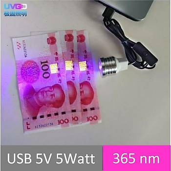 UV 365nm 5W Led Kürleme Lambasý OCA Telefon Tamir UV Mine Pozlama