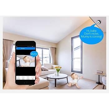 360° Panoramik Ev Güvenlik Mini Kamera 960P Ip Wifi P2P Balýkgözü Gece Görüþ