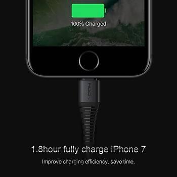 IOS USB Data Senkronizasyon Þarj Kablosu 2.1A iPhone 8 Örgülü Kablo 2 Metre