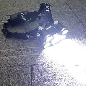 80000LM Süper Parlak Zumlu Kafa Feneri XML-T6  5 LED Þarj Edilebilir