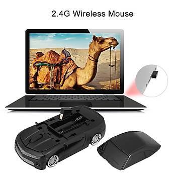 Optik Mouse 2.4GHz Ergonomik Kablosuz Chevi Bumblebee Araba Þeklinde