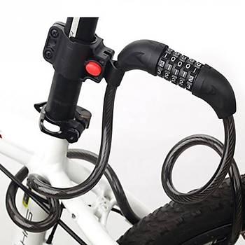 Bisiklet Motosiklet 5 Rakam Kombinasyonlu 1200x12mm Kilit