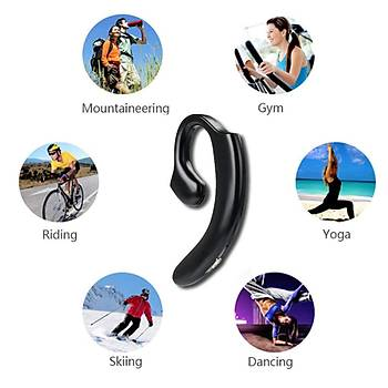 Kanca Spor Kulaklý Bluetooth 5.0 Çift yönlü Kullaným Mikrofonlu