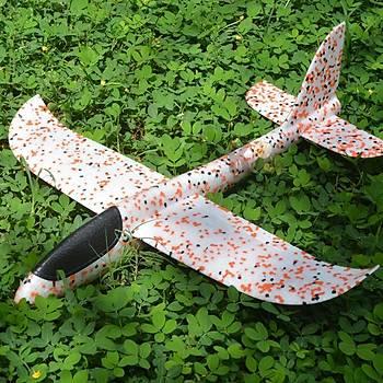Planör Uçak 48cm EPP Silikonlu Köpük Elden Fýrlatma Orange Dot