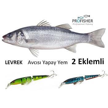 PROFISHER 2 Renk Levrek Avcýsý Zoka Sert Yapay Yem 9 gr 10,5 cm 2 Eklem