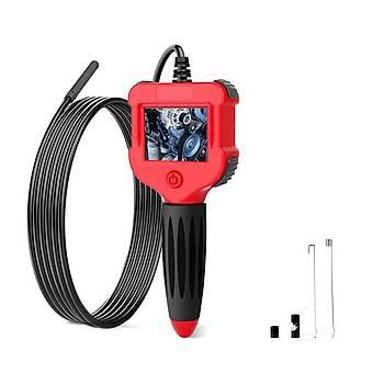 Endüstriyel Endoskop Muayene Kamerasý 5.5mm 2.4 inç HD Ekran 5mt