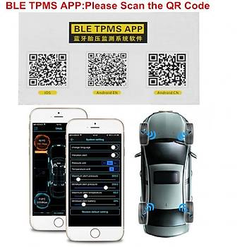 TPMS Lastik Basýnç Sensörü Bluetooth 4.0 IOS Android Evrensel Harici V11B