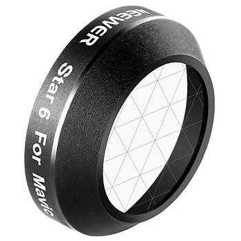 DJI Mavic Pro Star HD Lens Filtre Neewer 6 Nokta Efekt