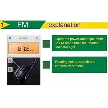 Stereo Kablosuz Ses Alýcý Kulaklýk Mikrofon FM Radyo MP3 PC TV