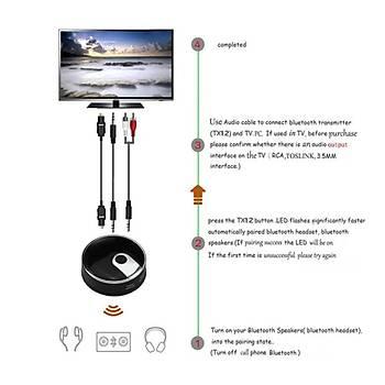 Optik Koaksiyel (TOSLINK) Bluetooth V4.0 Dijital Stereo Ses Verici