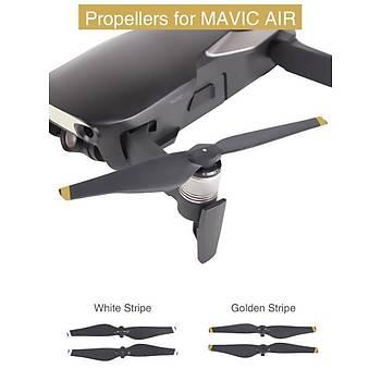 DJI Mavic Air 2 Adet Takým Pervane 1 CW + 1 CCW Beyaz veya Gold Çizgili