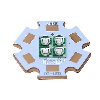 UV 20W 365nm Epistar 3535 120° Led Diyot 20mm Bakýr Board