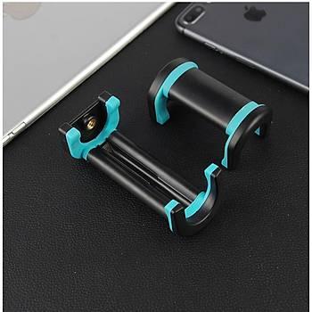 Tablet Telefon Tripod Tutucu Klip Uzatýlabilir & Dönebilen Mini Tripod Tutucu
