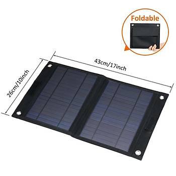 30W 18V 5V Çift USB Çýkýþ Katlanabilir Güneþ Paneli Güneþ Enerjisi Þarj Paneli