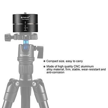 PULUZ 120 Dakika Time Lapse 360° Dönme Panoramik Görüntü Tripod Kafa Adaptörü