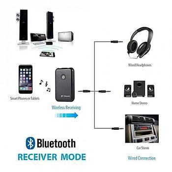 Bluetooth 4.2 2 in 1 Kablosuz Verici Alýcý RX TX Stereo Ses Müzik Adaptörü A2DP