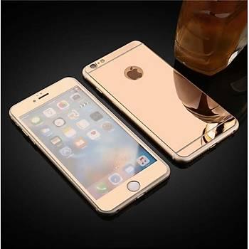 iPhone 6 Plus Ýçin Ön/Arka Mirror Aynalý Ekran Koruyucu Tamperli Cam Rosegold Renk